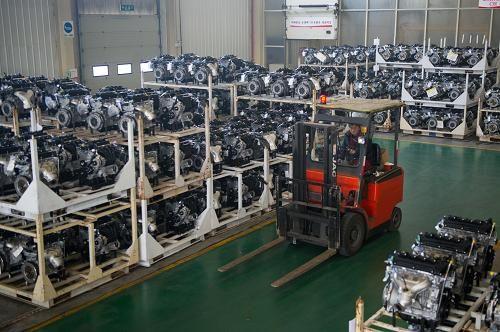 淮汽车股份公司自主生产的第100万台发动机正式下线